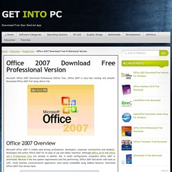 Office 2007 Download Free Professional Version