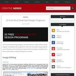 25 Free Must Download Design Programs