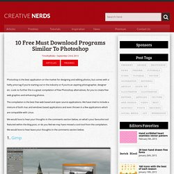 10 Free Must Download Free Programs Similar To Photoshop