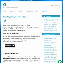 Download Free Psychology PDF Notes