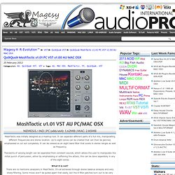 QuikQuak MashTactic v1.01 PC VST v1.00 AU MAC OSX