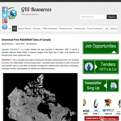 Download Free RADARSAT Data of Canada - GIS Resources