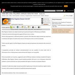 Download Wise Registry Cleaner 8.22.537 da IlSoftware.it