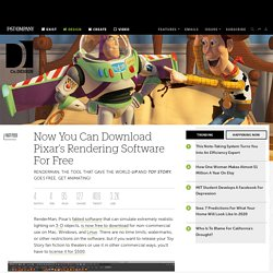 Now You Can Download Pixar's Rendering Software For Free