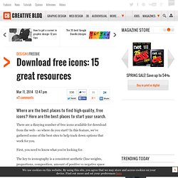 Download free icons: 16 great resources