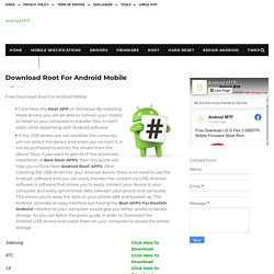 Download Root For Android Mobile - Android MTP