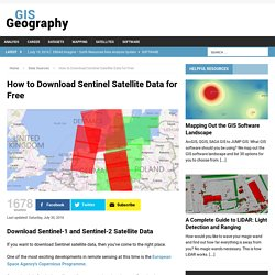 How to Download Sentinel Satellite Data for Free