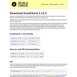 Download ScalaCheck