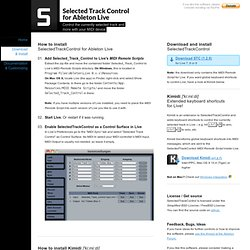 Download – Selected Track Control for Ableton Live – a MIDI Remote Script to control the selected track