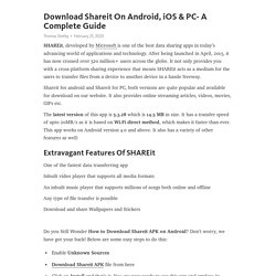 Download Shareit On Android, iOS & PC- A Complete Guide
