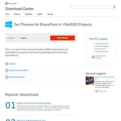 Download details: Ten Themes for SharePoint