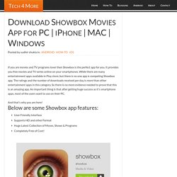 Download Showbox Movies App for PC