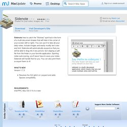 Download Sidenote for Mac - Drawer for your notes, images, etc. MacUpdate Mac Software Downloads
