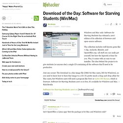 Download of the Day: Software for Starving Students (Win/Mac) - Lifehacker