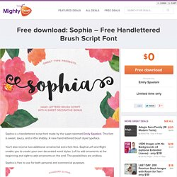 Free download: Sophia – Free Handlettered Brush Script Font