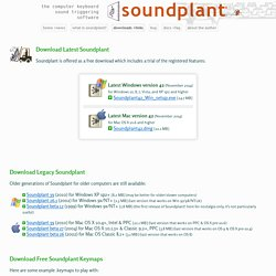 download Soundplant + links