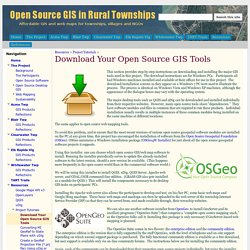 Download Your Open Source GIS Tools - Open-source Township GIS