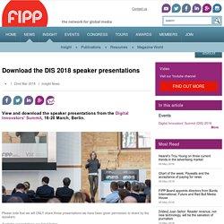 Download the DIS 2018 speaker presentations