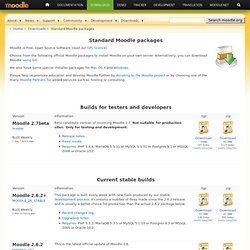 Moodle.org: Download standard packages