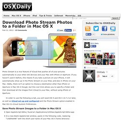 Download Photo Stream Photos to a Folder in Mac OS X