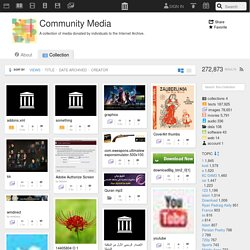Download & Streaming : Community Media