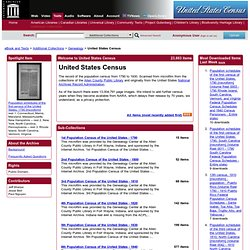 Internet Archive: United States Census's from 1790 to 1930