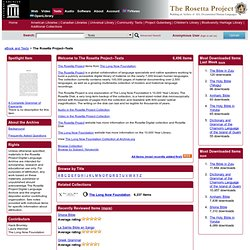 The Rosetta Project -- Texts : Free Books : Free Texts : Download & Streaming : Internet Archive
