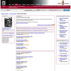 Million Book Project : Free Texts : Download & Streaming : Internet Archive