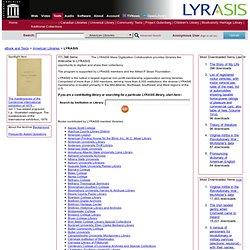 Internet Archive: LYRASIS eBooks
