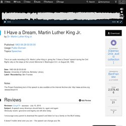 I Have a Dream, Martin Luther King Jr. : Dr. Martin Luther King Jr.