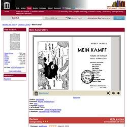 HITLER, Adolf, « Mein Kampf » (My fight)