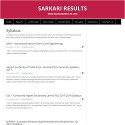 Latest Sarkari Naukri Syllabus 2017-2018