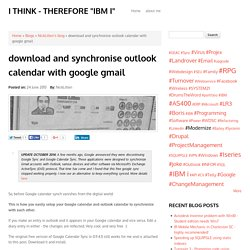 download and synchronise outlook calendar with google gmail