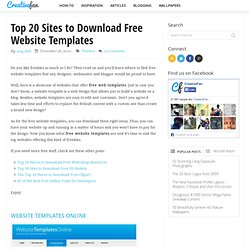 Top 20 Sites to Download Free Website Templates