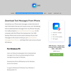 Download text messages from iPhone