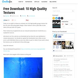 Free Download: 10 High Quality Textures