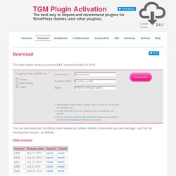 Download - TGM Plugin Activation