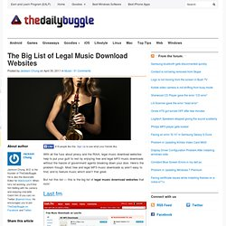 The Big List of Legal Music Download Websites