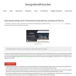 Download Jobify v3.5.1 Themeforest WordPress Job Board Theme