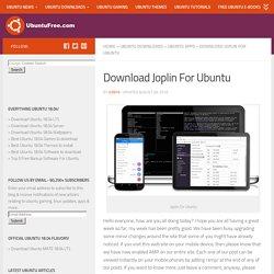 Download Joplin For Ubuntu - Ultimate Evernote Alternative
