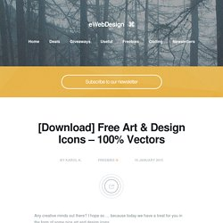 [Download] Free Art & Design Icons - 100% Vectors