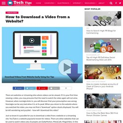 How to Download a Video from a Website? -