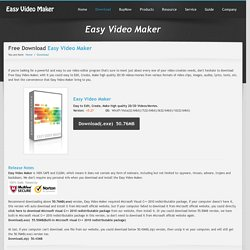 Download Free Easy Video Maker - Edit, create, make video and movie.