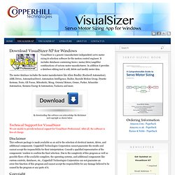 Download VisualSizer-XP - Servo Motor Sizing Software