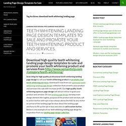 download teeth whitening landing page