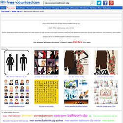Download Men Women Bathroom clip art free Vector clip art