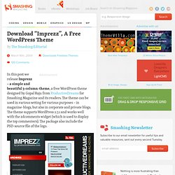 "Download ""Imprezz"", A Free WordPress Theme - Smashing Magazine"