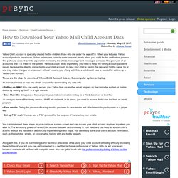 How to Download Your Yahoo Mail Child Account Data