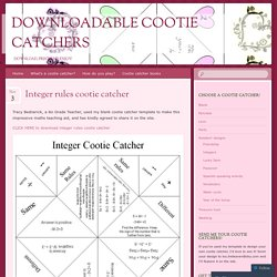 Downloadable Cootie Catchers