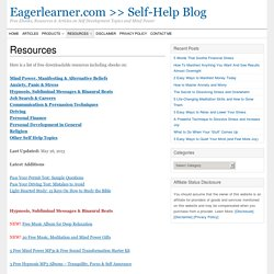 Free Downloadable Ebooks From Eagerlearner.com >> Self-Help